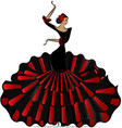 abstract flamenro girl in dance vector image vector image