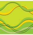 abstract green and yellow waves with shadows vector image vector image