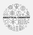 analytical chemistry concept outline round vector image vector image