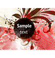 Autumn Grunge Floral Design vector image vector image