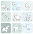 Baby card with animals vector image vector image