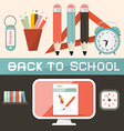 Back to School in Retro Flat Design Style vector image vector image