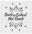 back to school typographic logo vector image vector image