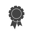 badge with ribbon icon in flat style on white vector image vector image