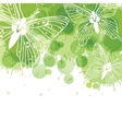 Beautiful background with butterflies and green vector image vector image