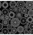 Black gears steampunk seamless pattern vector image