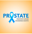 blue ribbon badge symbol for no shave awareness vector image