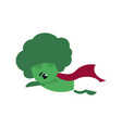 broccoli - super hero rushes to care human health vector image