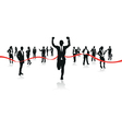 businessman running vector image vector image