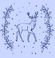 christmas reindeer silhouette vector image vector image