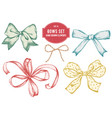 collection of hand drawn bows vector image vector image