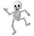 cute skeleton cartoon vector image
