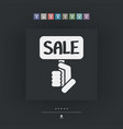 discount label icon vector image vector image