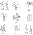 Doodle of hand draw tree set vector image vector image