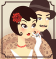 Flapper couple vector image vector image