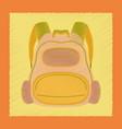 flat shading style icon school fashionable bag vector image vector image