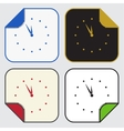 four square sticky icons - last minute clock vector image vector image