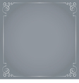 frame on a gray background vector image vector image