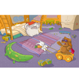 Funny Teddy Bear and Rabbit vector image vector image