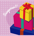 gift boxes surprise vector image