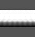 gradient halftone dots background horizontal vector image vector image