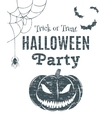 Halloween party poster template vector image vector image