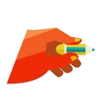 hand holding a pencil vector image
