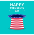 Hat with stars and strip Presidents Day vector image