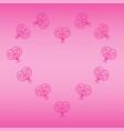 heart bg-1 vector image