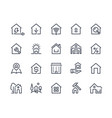 home line icons browser interface button home vector image vector image