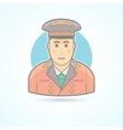 Hotel porter man doorman service guy icon vector image vector image