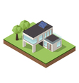 isometric large private modern cottage or house vector image vector image