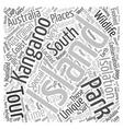 Kangaroo Island An Australian Island Paradise text vector image vector image