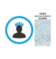 King Rounded Icon with 1000 Bonus Icons vector image vector image