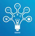 light bulb line infographics options banner vector image vector image