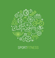 linear sport and fitness logo vector image vector image