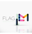 Logo flag abstract linear geometric business icon