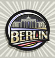 logo for berlin vector image