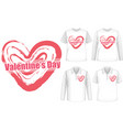mock up shirt with valentines day icon vector image