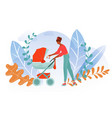 mother city walks bawoman stroller together vector image vector image