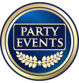 party events gold icon vector image vector image