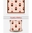Pillow Strawberry Cupcakes vector image vector image