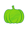 pumpkin sign lemon scribble icon on white vector image