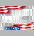 realistic waving american flag usa symbol vector image