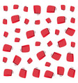 red shopping paper bags background vector image vector image