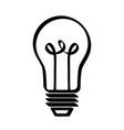 regular lightbulb icon image design vector image vector image