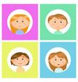 school children avatars boys and girls portraits vector image