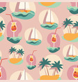 seamless background pattern with summer elements vector image vector image