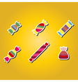 set of color icons with candy vector image