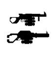 set weapons concept grenade gun vector image